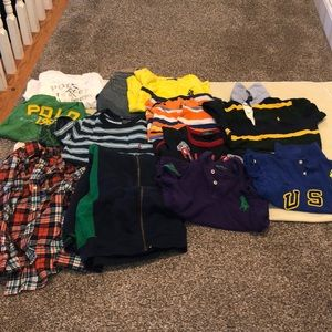 Preowned bundle Polo Ralph Lauren tops, shorts &
